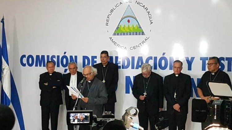 Bishops of Nicaragua on the National Dialogue Mediation and Witness Commission meeting on 23 July 2018
