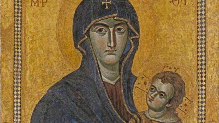 Una raffigurazione della Vergine Maria
