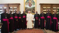 File picture of the Bishops of Burundi on an ad limina visit