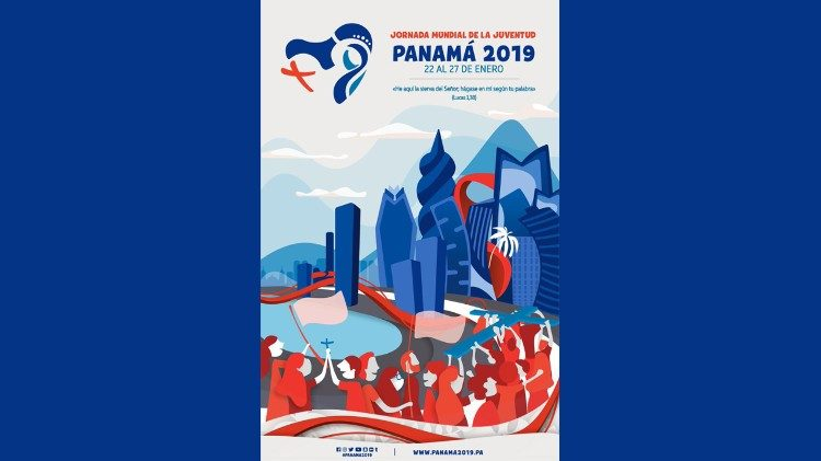 Official poster for World Youth Day, Panama, 2019