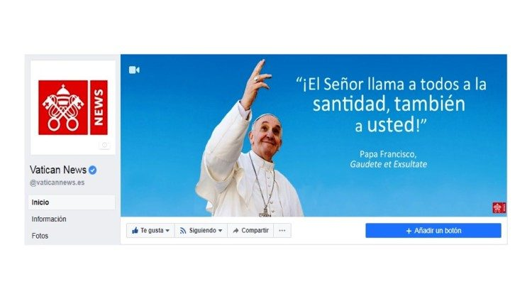 A página do Vatican News no Facebook