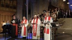 Pope Francis participates in an ecumenical prayer service on 31 October 2016