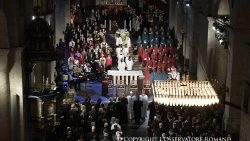 Pope Francis participates in an ecumenical prayer service