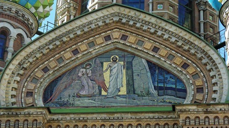 Cristo ressuscitado imagem em uma igreja ortodoxa