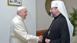 Pope Francis receives His Beatitude, Sviatoslav Shevchuk, Major Archbishop of Kyiv-Halych