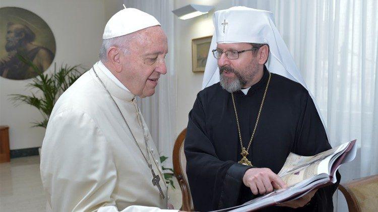 ĐTC Phanxicô và Đức Tổng GM trưởng Sviatoslav Shevchuk
