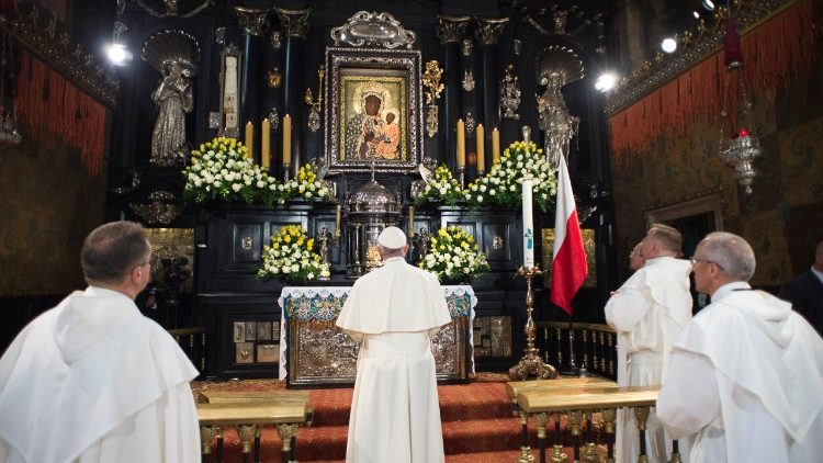 Papa Francesco e la Madonna di Czestochowa