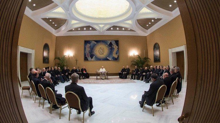 El Papa y los Obispos de Chile