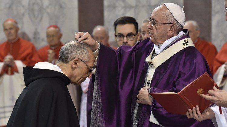 Papa Francisco na Missa da Quarta-feira de Cinzas, Basílica de Santa Sabina 2018