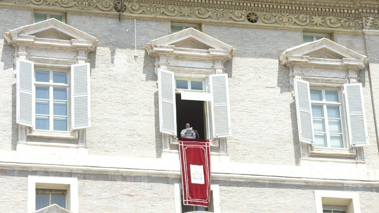 Pope Francis at the Angelus prayer