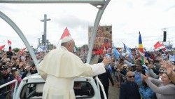 Pope at the rally of the Neocatechumenal Way at Tor Vergata, just outside Rome, on May 5, 2018.