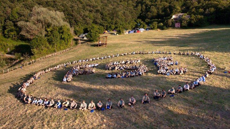 Un rassemblement des scouts d'Europe en 2018.