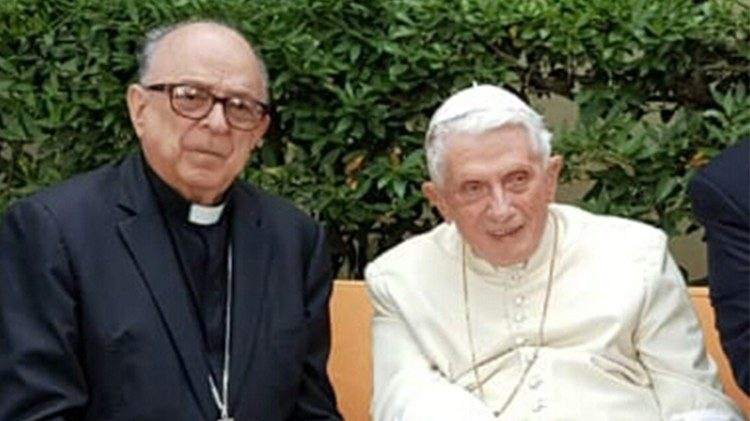 Cardinale Raimundo Damasceno and Pope Benedict XVI