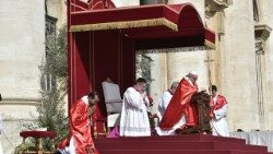 Pope Francis during Palm Sunday Liturgy