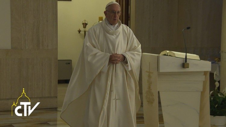 Pope at Mass at Casa Santa Marta in the Vatican, Nov. 9, 2017
