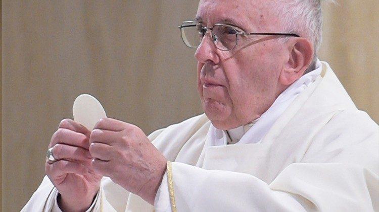 Papa Franjo slavi misu u Domu svete Marte