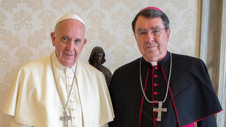 Pope Francis with Archbishop Christophe Pierre, Apostolic Nuncio to the United States