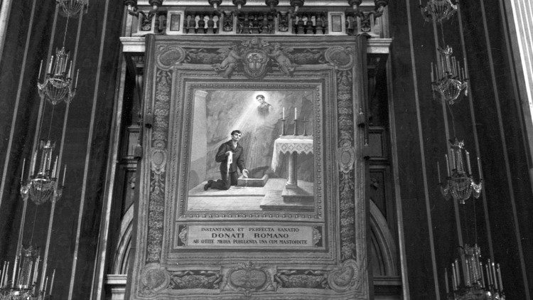 Image used during the Beatification ceremony of Nunzio Sulprizio in 1963