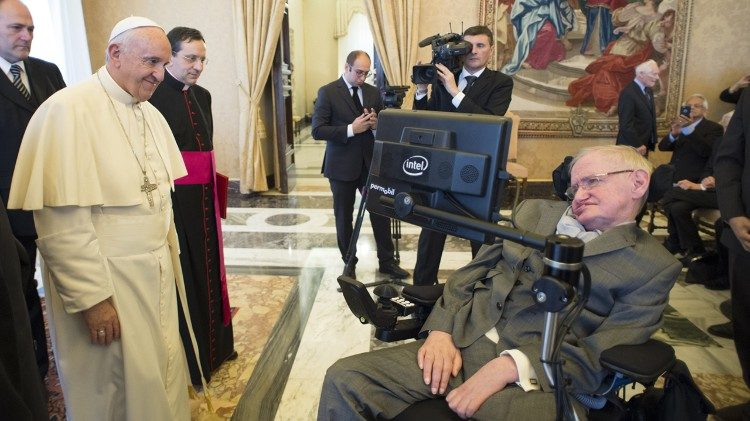 Papa Francisco e Stephen Hawking