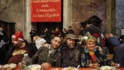Sant'Egidio's Christmas lunch with the poor