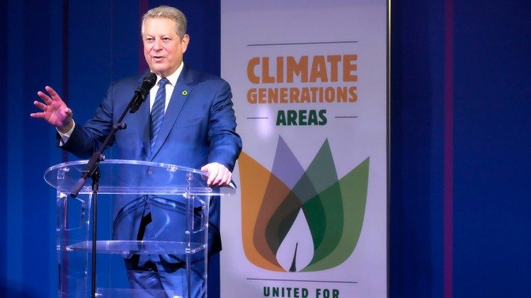 Al Gore at a climate change conference