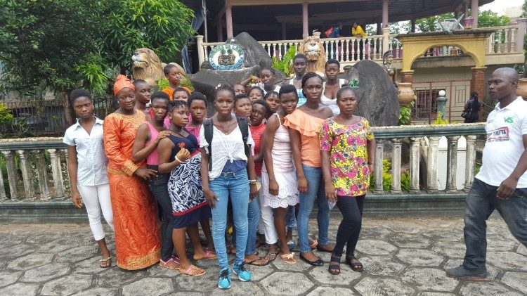 "Girls at the ""Don Bosco Fambul"" shelter in Freetown, Sierra Leone"