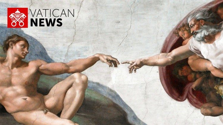"""The Creation of Adam"" by Michelangelo in the Vatican's Sistine Chapel"