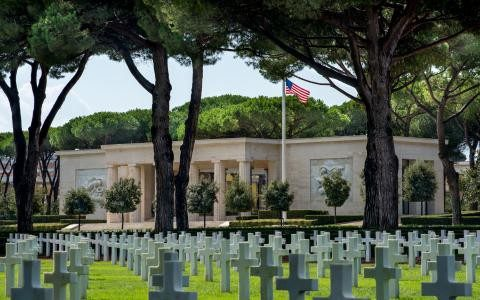 The American military cemetery at Nettuno near Anzio which Pope Francis was scheduled to visit on November 2nd 2017.