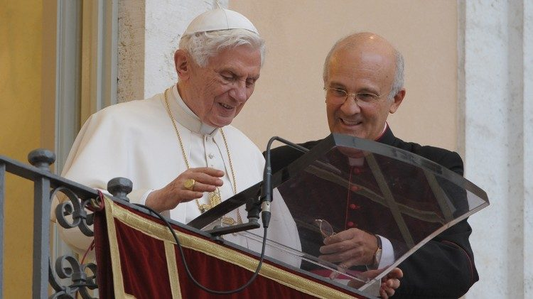 Pope Benedict XVI and Monsignor Alfred Xuereb