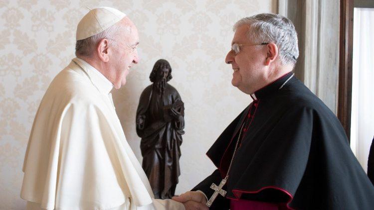 Papa Francisco e Dom Giambattista Diquattro novo Núncio Apostólico no Brasil