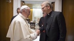 Pope Francis meets in the Vatican with WCC General Secretary Rev. Olav Fykse Tveit