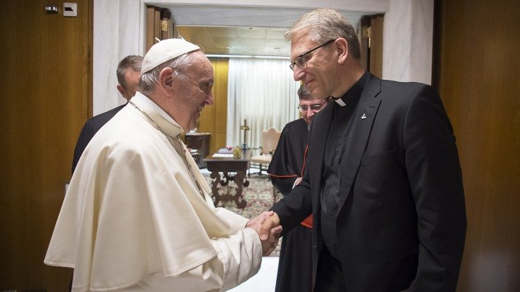 Papa Francisco e o Rev. Olav Fykse Tveit, no Vaticano