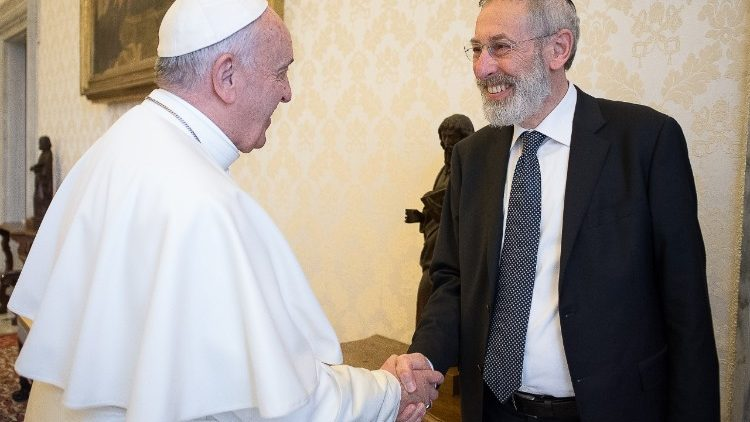 Pope Francis with Rome Chief Rabbi Riccardo Di Segni (file photo)
