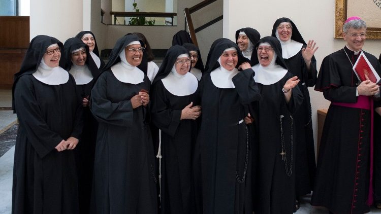 Poor Clare cloistered nuns at Casa Santa Marta in the Vatican