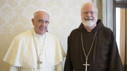 Pope Francis with Cardinal Sean Patrick O'Malley