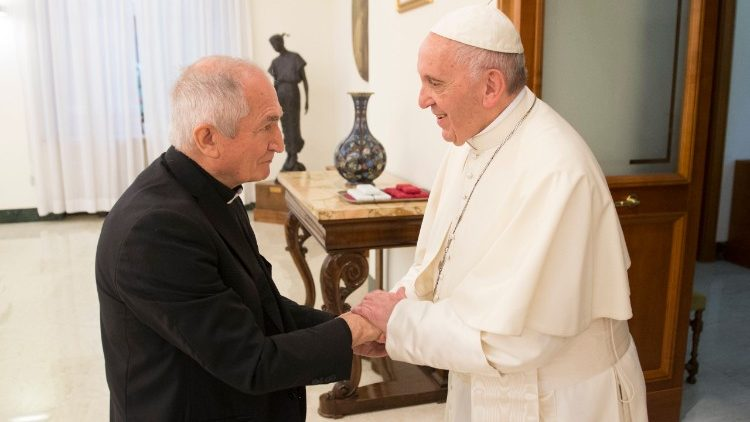 Archbishop Silvano Tomasi with Pope Francis