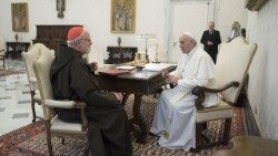 Pope Francis meets with Cardinal Sean O'Malley, President of the Commission for the Protection of Minors
