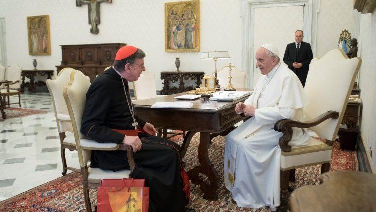 Papa Francesco e il cardinale Kurt Koch, in un udienza del dicembre 2017