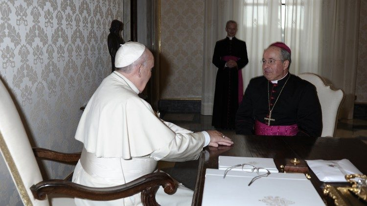 Archbishop Ivan Jurkovic meets with Pope Francis