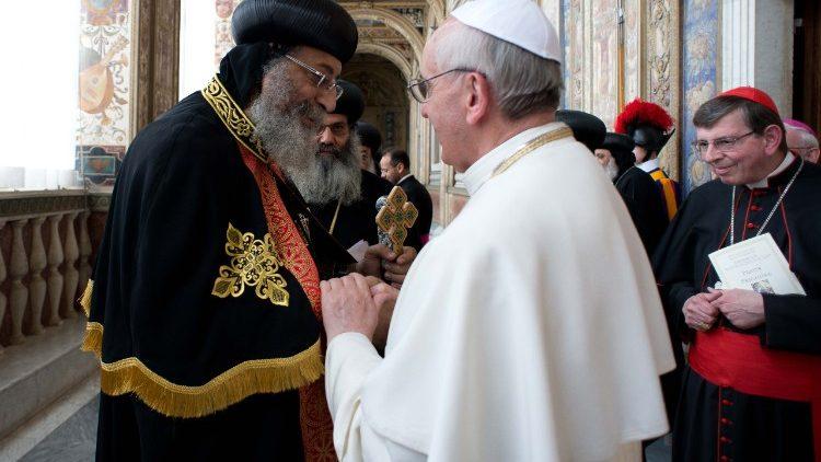 ĐGH gửi sứ điệp Video mừng Giáo Hội Chính Thống Copte Ai Cập