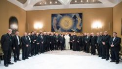 Pope with Chilean Bishops