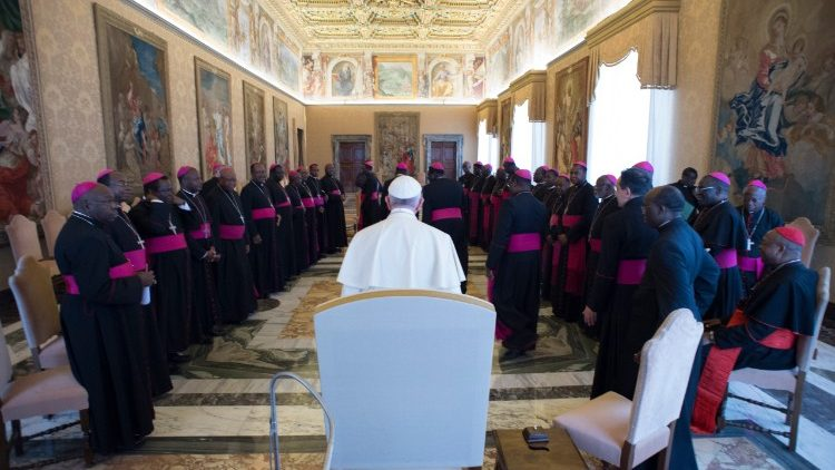 Nigerian Bishops with Pope Francis