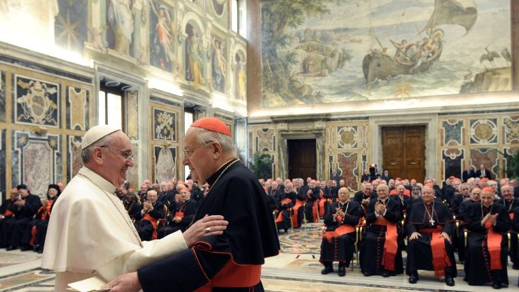 Papa Francisco e o Card. Angelo Sodano
