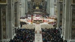 Christmas Mass inside St. Peter's Basilica