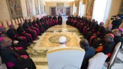 Pope Francis meeting with Nigerian Bishops last Thursday, 26-04-2018