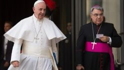 Papa Francesco and Bishop Marcello Semeraro of Albano, Italy