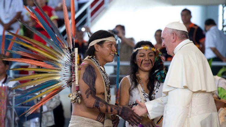 El Papa en Puerto Maldonado