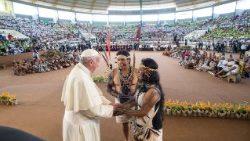教宗方济各接见原住民