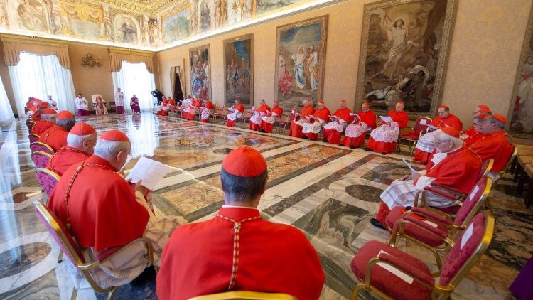Pope Francis and other Cardinals present for the Ordinary Public Consistory of 19 July 2018