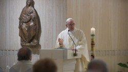 Pope Francis celebrates Mass in the Casa Santa Marta